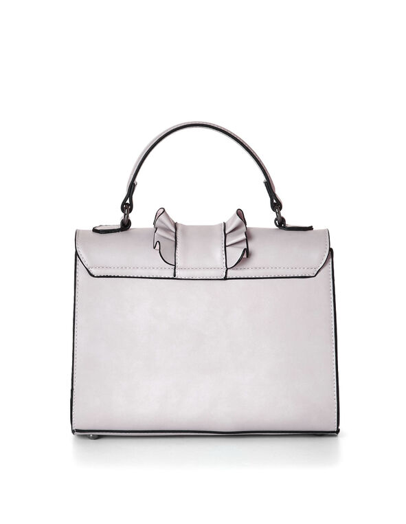 Pale Lavender Ruffle Small Handbag, Lavender, hi-res