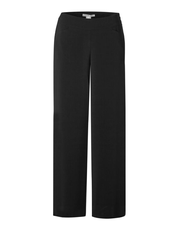 Black Soft Wide Leg Pant, Black, hi-res