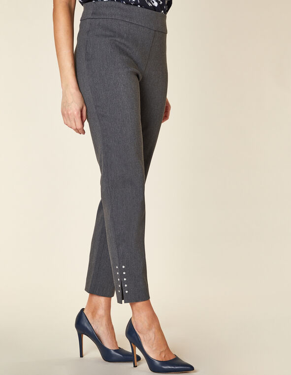 Grey Slim Ankle Pant, Grey