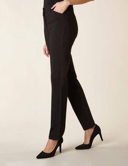 Black Long Butt Lift Slim Pant, Black, hi-res
