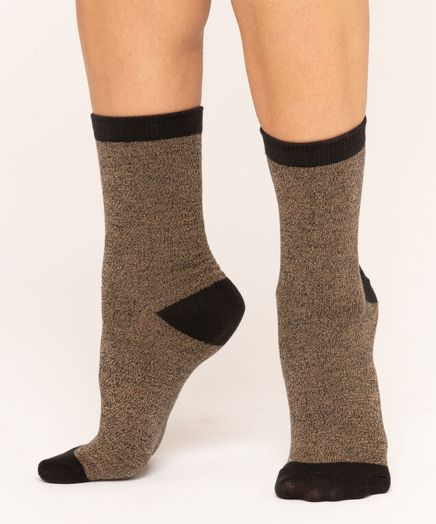 Camel & Black Crew Sock, Camel/Black, hi-res