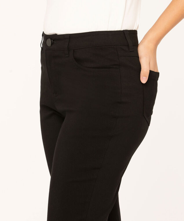 Black Curvy 5-Pocket Slim Pant, Black