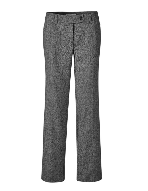 Grey Tweed Trouser Pant, Grey, hi-res