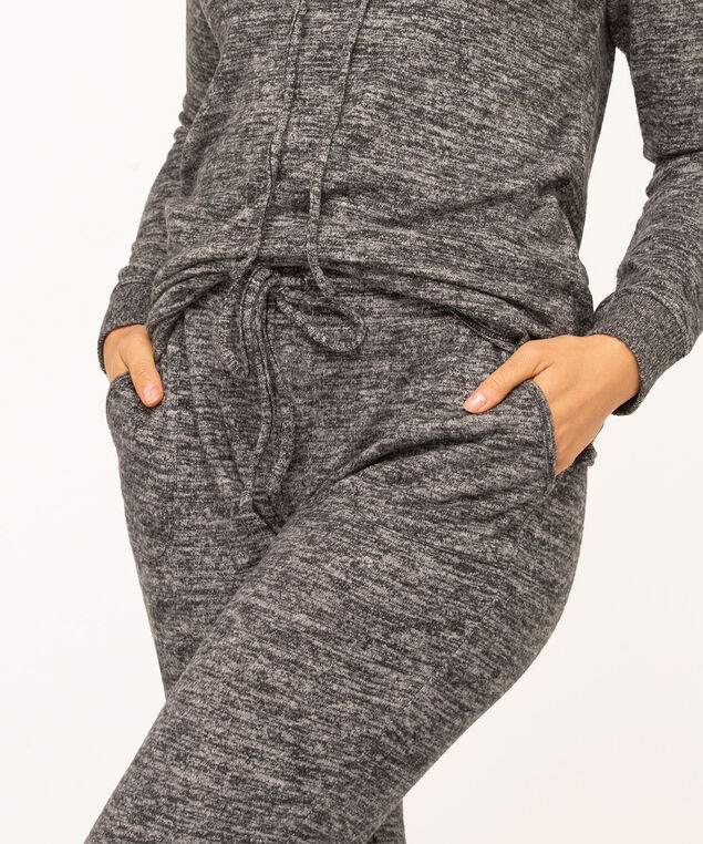 Hacchi Drawstring Jogger Pants, Charcoal Mix