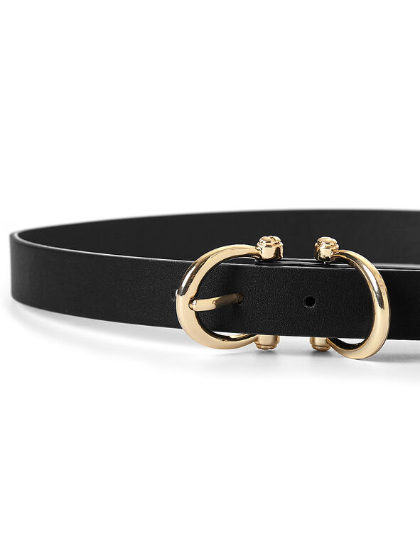 Matte Black Belt, Black/Gold, hi-res