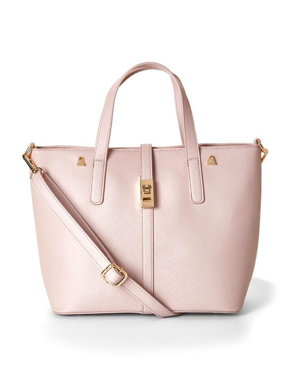 Pink Structured Handbag, Pink, hi-res