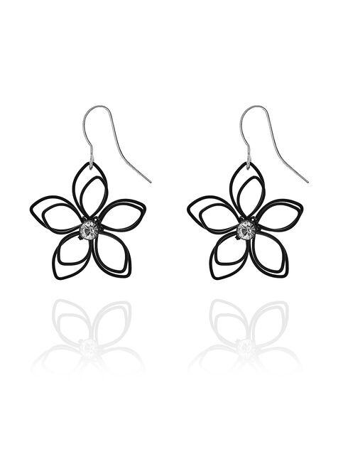 Blesiya 20x Assorted Color Chiffon Flower Jewelry Findings Earrings Pendant