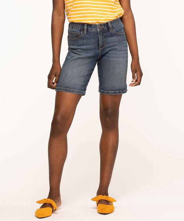 Denim Slim Short, Md Blue