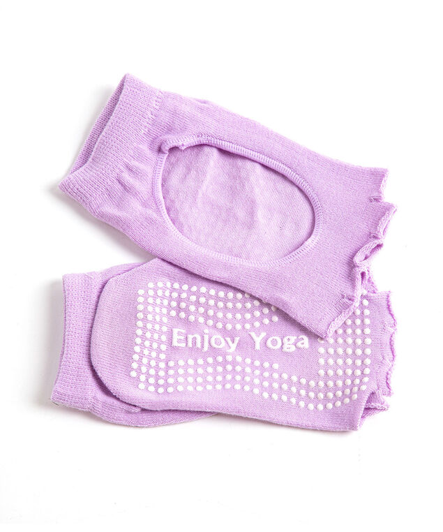 Toeless Anti-Slip Yoga Sock, Light Dusty Purple