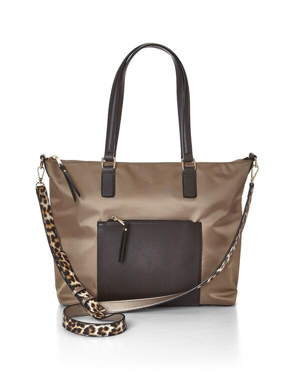 Leopard Handbag Strap, Gold, hi-res