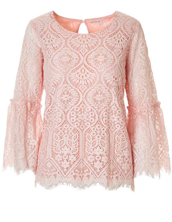 Seashell Pink Lace Top, Seashell Pink, hi-res
