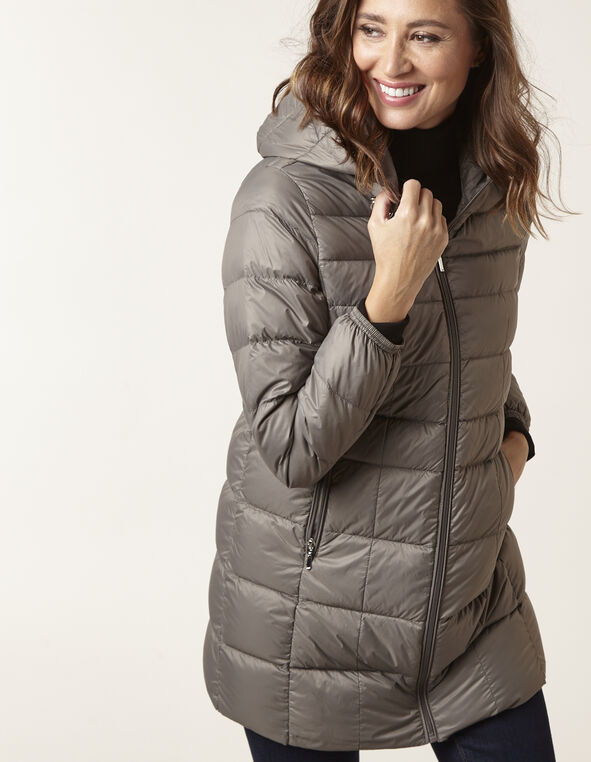 Neutral Packable Down Jacket, Tan, hi-res