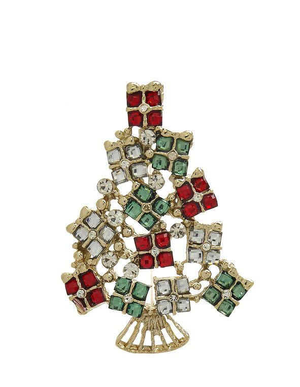 Christmas Tree Pin, Multi, hi-res
