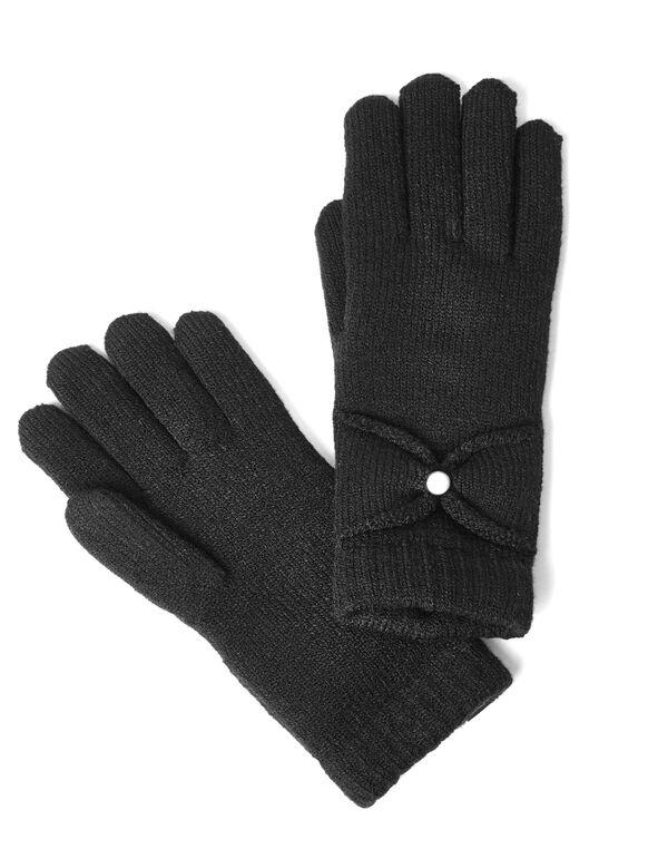 Black Chenille Ultra Soft Glove, Black, hi-res