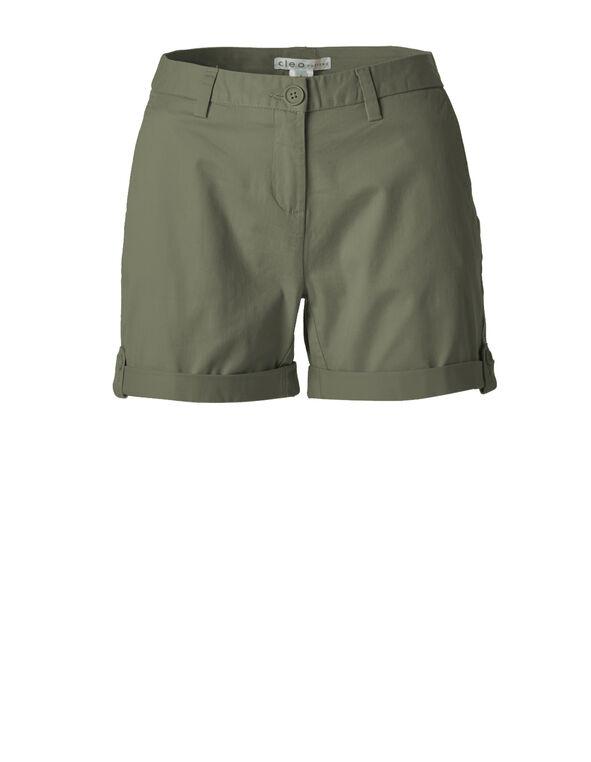Summer Olive Cotton Short, Summer Olive, hi-res