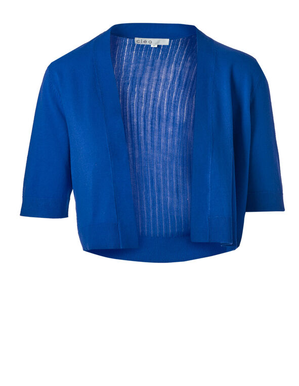 Electric Blue Dress Shrug, Electric Blue, hi-res