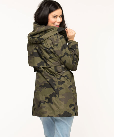 Hooded Camo Windshell Coat, Olive Camo, hi-res