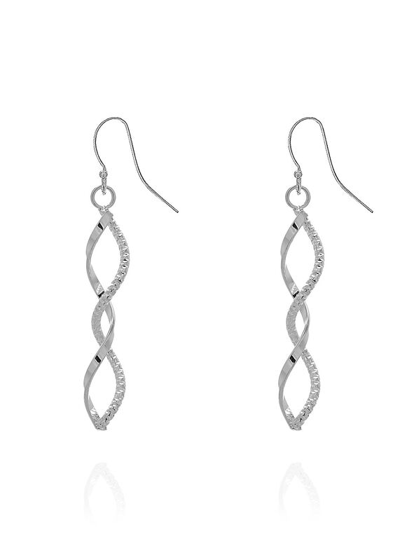 Silver Spiral Earring, Silver, hi-res