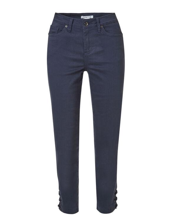 Navy Cotton Ankle Slim Leg Jean, Navy, hi-res