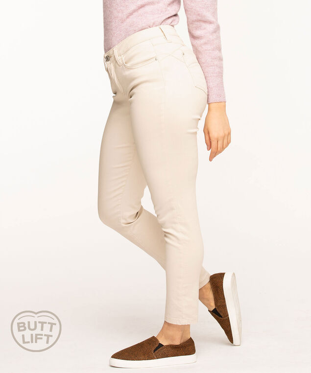 Butt Lift 5-Pocket Slim Pant, Stone
