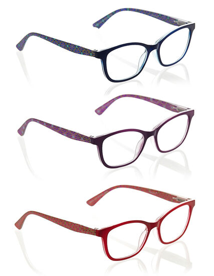Multicolour Frame 3-Pack Readers, Blue/Purple/Red, hi-res