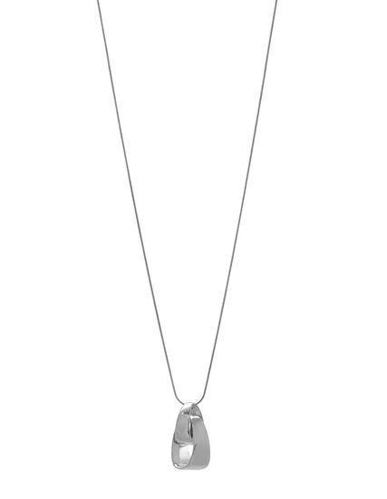Silver Long Knot Pendant Necklace, Silver, hi-res