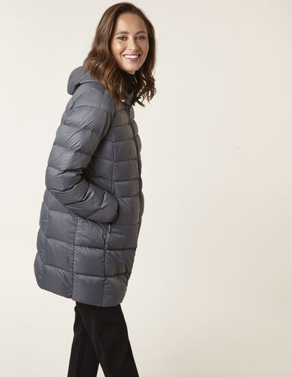 Grey Packable Down Jacket, Grey, hi-res