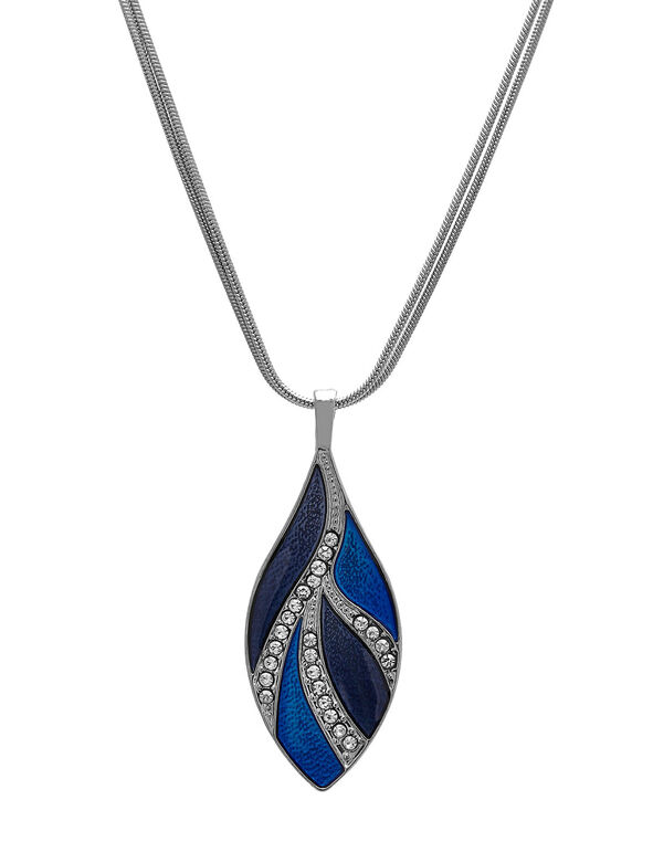 Blue Epoxy Short Necklace, Blue, hi-res