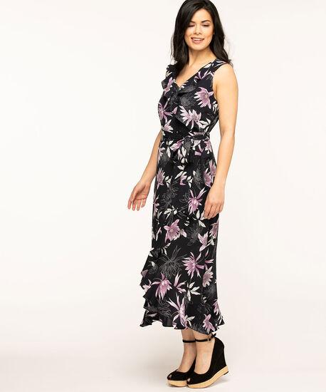 Navy Floral Maxi Dress, Navy, hi-res