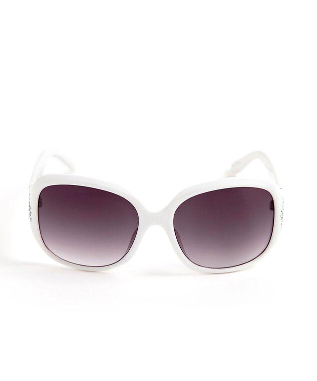 Large White Square Sunglasses, White