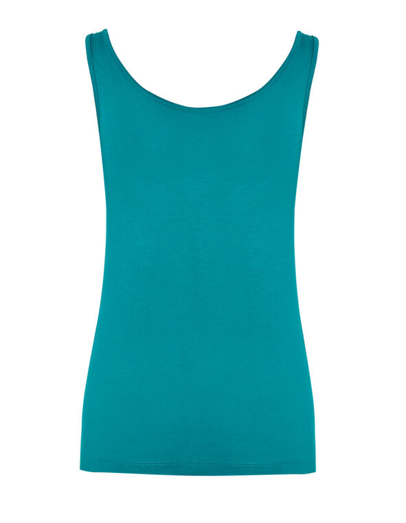 Turquoise Universal Layering Tank, Summer Turquoise, hi-res