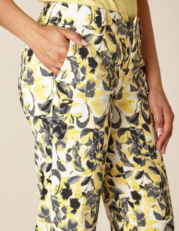 Citrus Floral Chino Slim Ankle Pant, Yellow/Citrus, hi-res