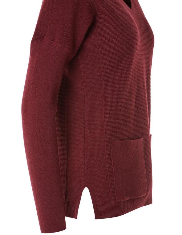 Merlot Front Pocket Pullover, Merlot, hi-res