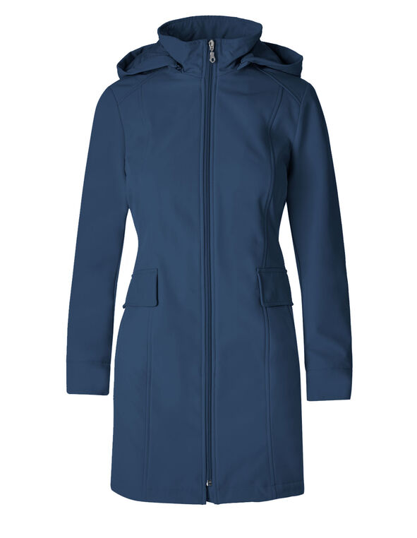 77437ec851ba ... Deep Blue Softshell Hooded Jacket