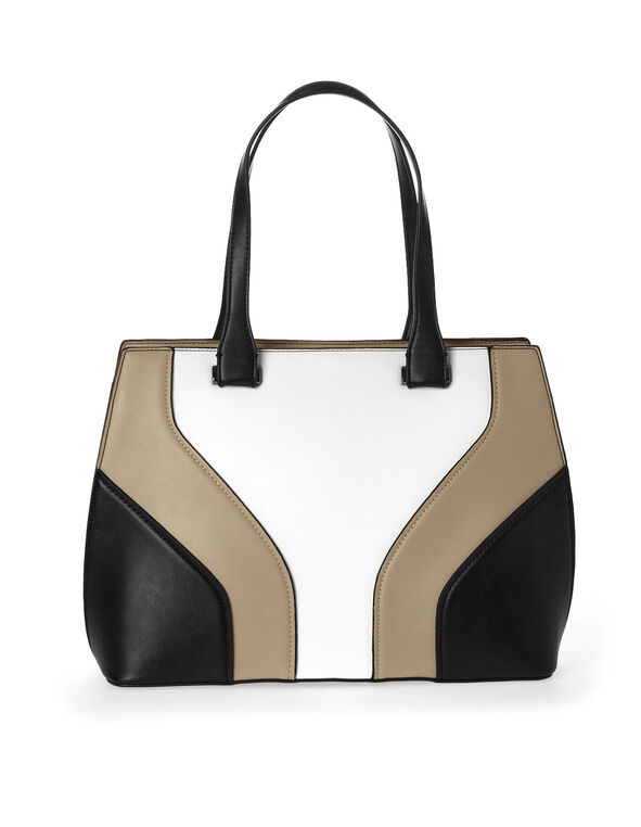 Colour Block Hand Bag, Multi, hi-res