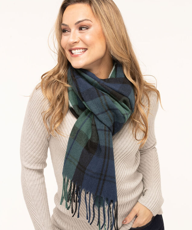 Blackwatch Plaid Super Soft Scarf, Forest Green/Navy/Black, hi-res