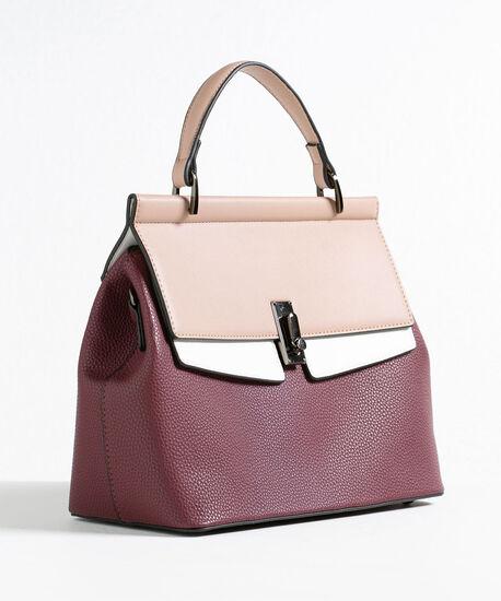 Mulberry Colourblock Handbag, Mulberry/Pink/White, hi-res