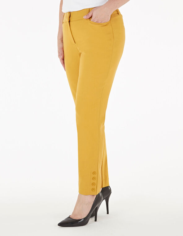 Ochre Slim Leg Ankle Pant, Yellow, hi-res