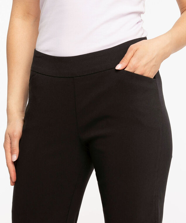 Slim Leg Pull-On Capri, Black