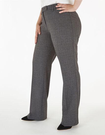 Grey Curvy Short Trouser Pant, Grey, hi-res