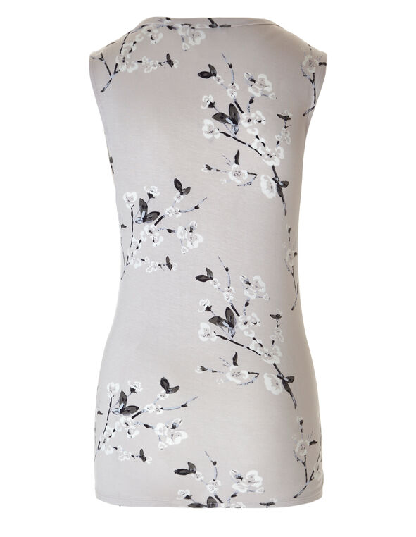 Floral Sleeveless Top, Floral, hi-res