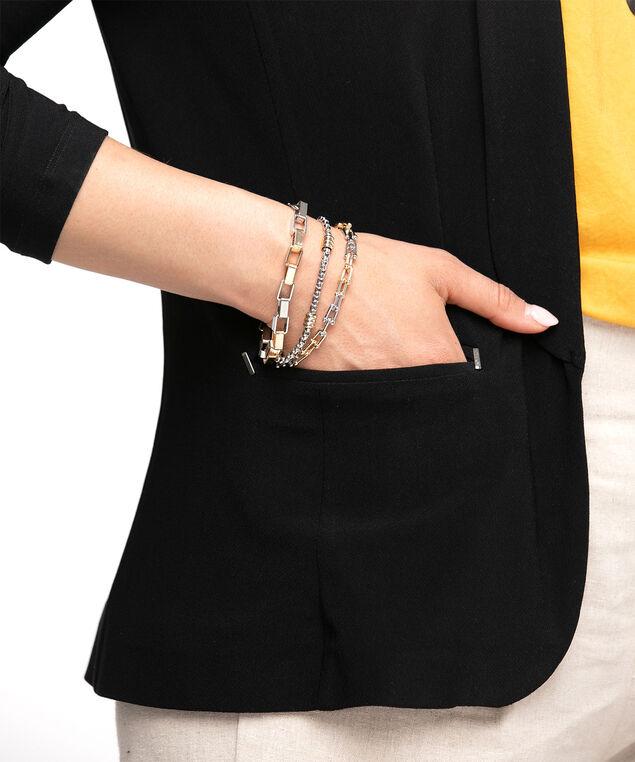 Mixed Metal Bracelet 3-Pack, Rhodium/Gold