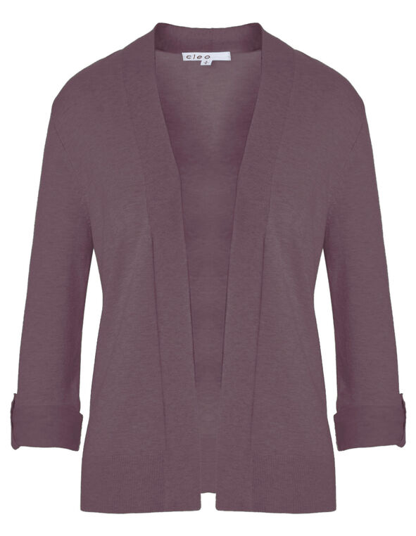 Orchid Mid Length Roll Cardigan, Orchid, hi-res