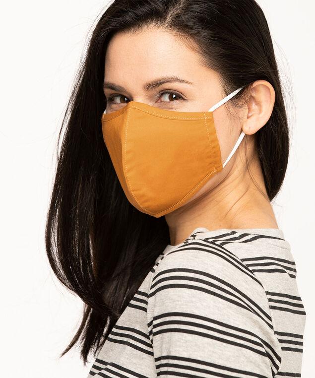 Cotton-Lined Face Mask Set, Gold/Black Stars