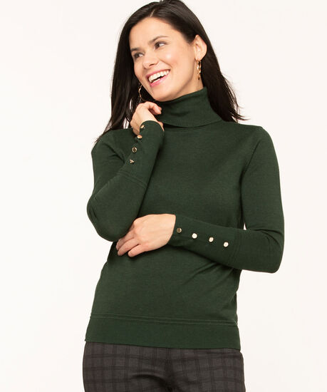 Long Sleeve Essential Turtleneck, Forest Green, hi-res