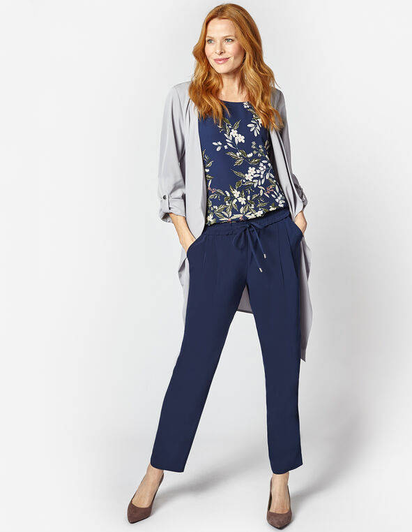 Navy Soft Jogger Ankle Pant, Navy, hi-res
