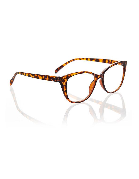Brown Cat Eye Reader, Brown, hi-res