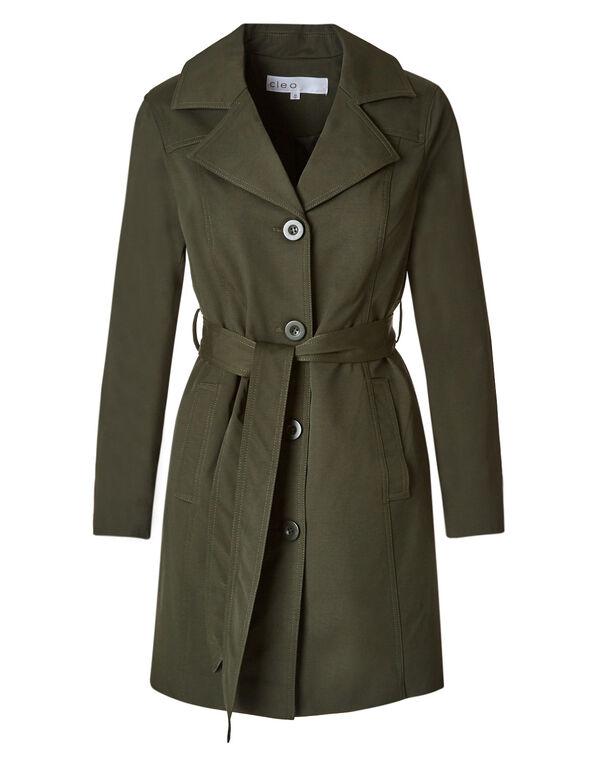 Olive Trench Coat, Olive, hi-res