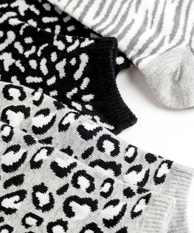 Animal Print Ankle Sock 3-Pack, Animal Print