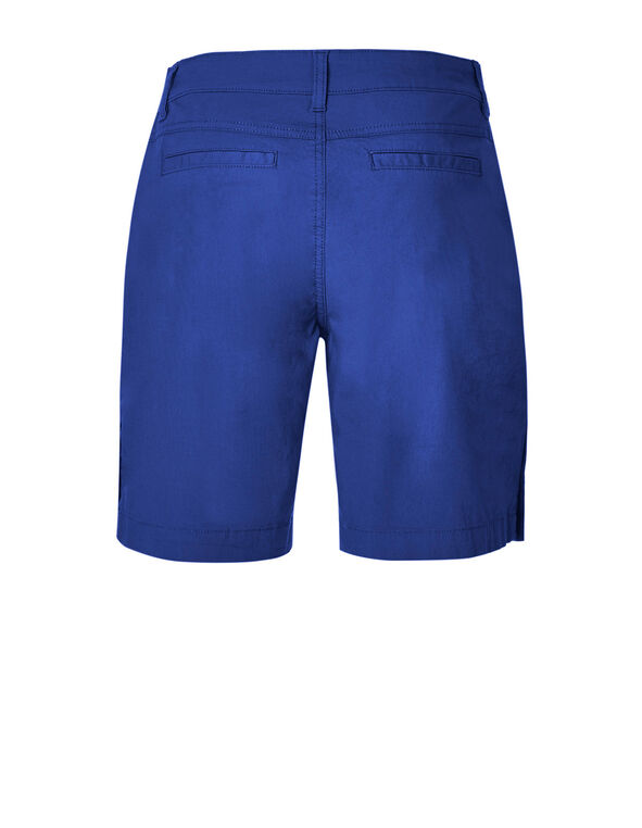 Electric Blue Poplin Bermuda Short, Electric Blue, hi-res